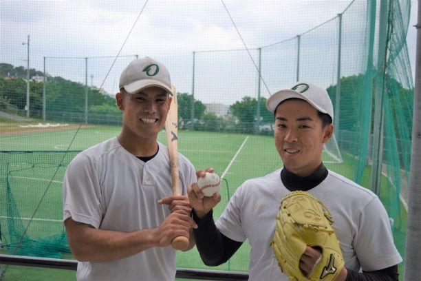 本学硬式野球部 幸地投手 髙島外野手 四国アイランドリーグplus合同トライアウトに合格